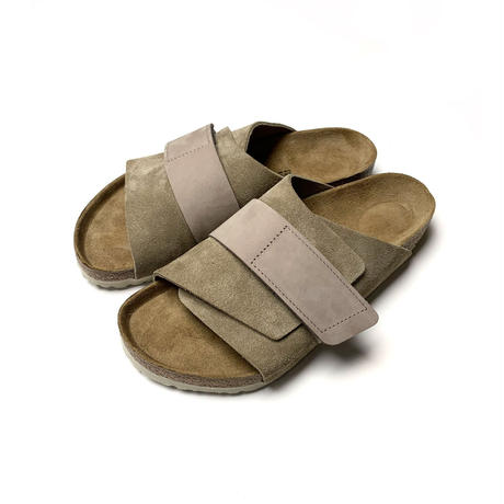 BIRKENSTOCK KYOTO LEATHER SANDALS TAUPE SUEDE