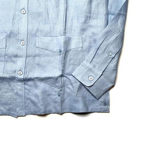 CUBAVERA L/S LINEN SHIRT BLUE