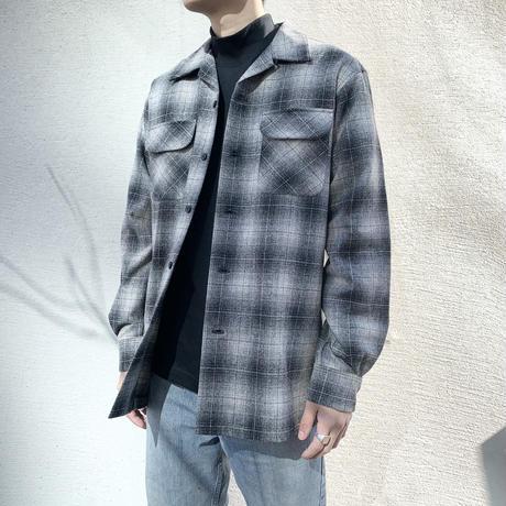 PENDLETON BOARD SHIRT BLACK/GREY OMBRE CHECK