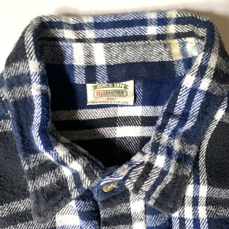 Used Five Brother  L/S Flannel  Shirt C-0511