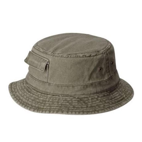 DPC Dyed Twill Bucket Hat w/ Side Pocket Olive
