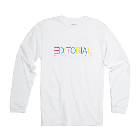 Editorial Magazine Rainbow Editorial Longsleeve White