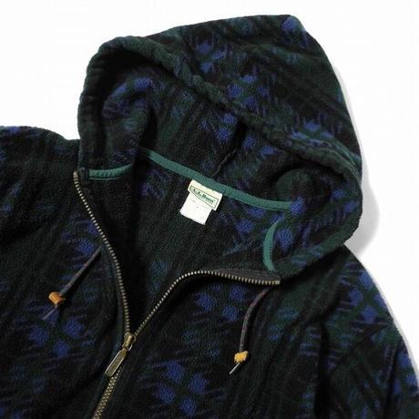 80'S L.L Bean Fleece Fooded Jacket
