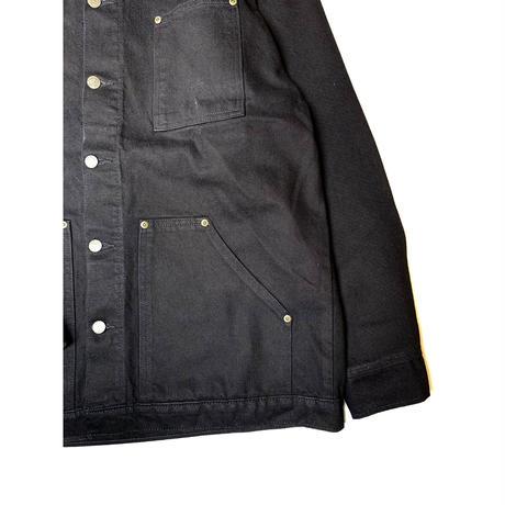 PRISON BLUES DENIM YARD COAT BLACK