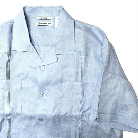 CUBAVERA S/S LINEN SHIRT BLUE
