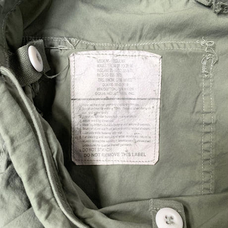 Deadstock US Army Snow Camo Pants Over dyed Khaki