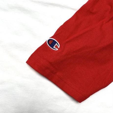 CHAMPION BIG RAGLAN TEE RED/WHT