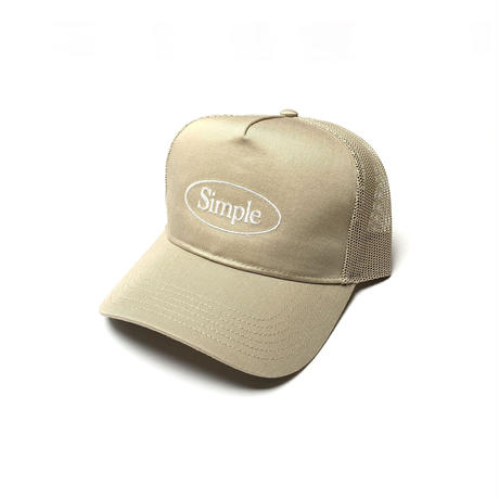 SIMPLE OVAL TRUCKER HAT KHAKI