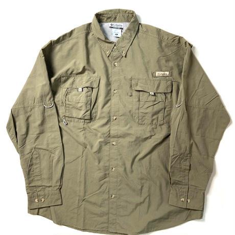 00s Columbia PFG Fishing Shirts Olive