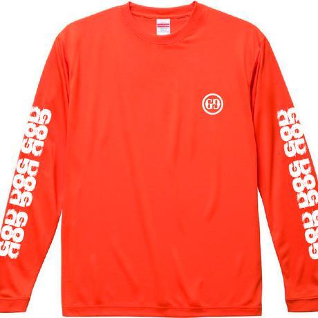 「GG」長袖プリントTシャツ / オレンジ