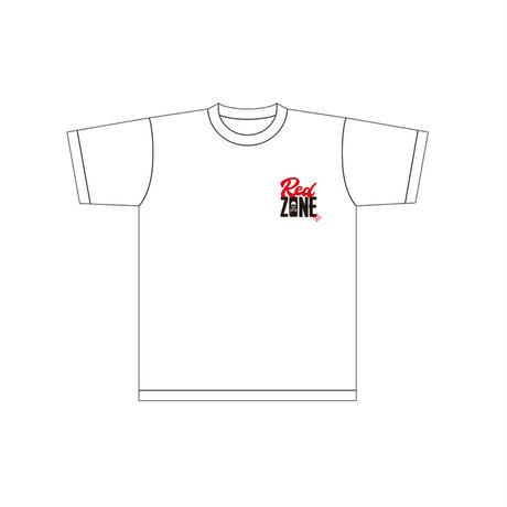 「RED ZONE」半袖Tシャツ / 白
