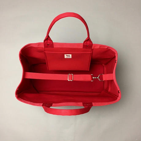 Container Medium (Red × Ivory)