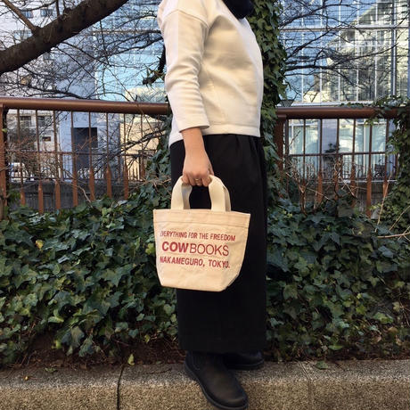 Backet Tote Mini (Natural×Red)