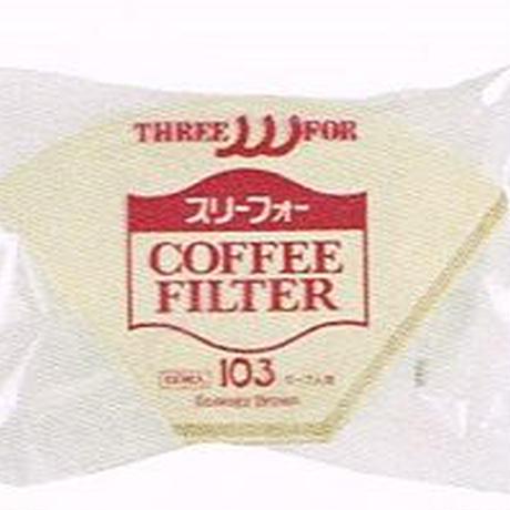 スリーフォーコーヒーフィルターEB-103(5~7人用)100枚入