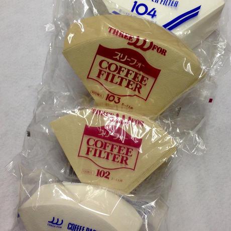 スリーフォーコーヒーフィルター NO-101(1~2人用) 100枚