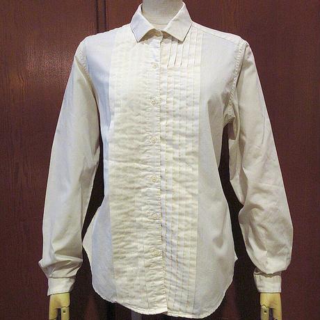 ビンテージ70's80's●Shapelyレディースプリーツドレスシャツsize 14●210315s7-w-lssh 1970s1980s古着女性用トップス長袖シャツ