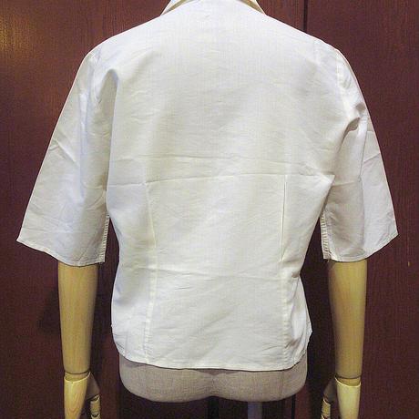 ビンテージ50's60's●PENNEY'Sレディース七分袖ループカラーシャツsize 34●210503s8-w-lssh 1950s1960sペニーズ古着オープンカラー開襟