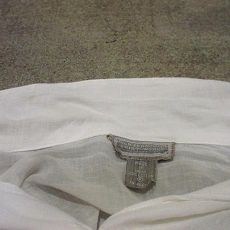 ビンテージ70's●SAN FRANCISCO SHIRT WORKSレディースインド綿オープンカラーブラウスsize M●210424f5-w-lssh古着コットンシャツ