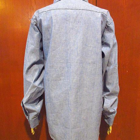 ビンテージ70's●DEADSTOCK KiFFEコットンシャンブレーシャツsize L●210427s4-m-lssh-hpe長袖シャツヒッピートップスデッドストック