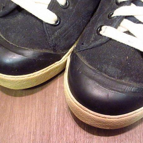ビンテージ80's●NIKE ALL COURT CANVAS黒 Size 5●200715n6-w-snk-24cm ナイキオールコートスニーカーキャンバス