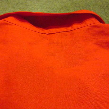 ビンテージ50's●レディースコットンループカラーシャツ赤●200718f4-w-ssshオープンカラーシャツレッドブラウストップスusa