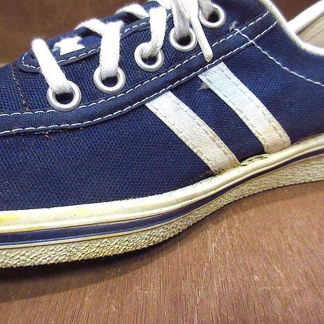 ビンテージ70's●DEADSTOCKレディース2本ラインキャンバススニーカー紺size 6●210423n7-w-snk-235cm 1970s古靴デッドストックUSA製