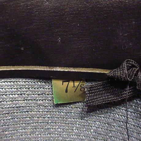 ビンテージ60's70's●STETSONストローハットグレー7 1/8●210606n4-m-ht-str 1960s1970sステットソン麦わら帽子メンズ