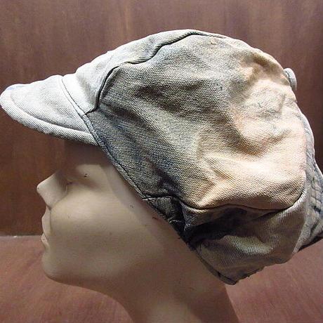 ビンテージ70's●パッチワークデニムキャスケット●210309n4-m-cp-cas 1970sレトロ帽子メンズハンドメイド