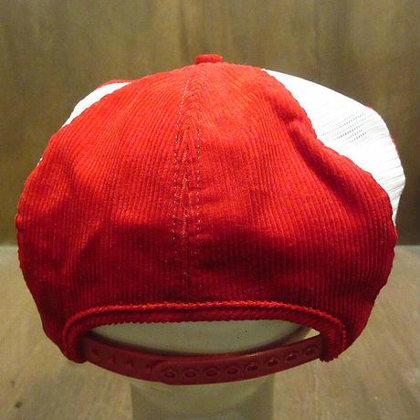 ビンテージ●K-BRAND Snap-onコーデュロイ×メッシュスナップバックハンチング帽●210502n6-m-cp-htg スナップオン帽子