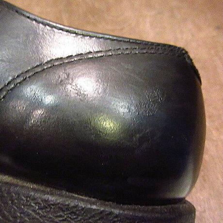 ビンテージ70's80's●WOLVERINEプレーントゥワークシューズ黒●201116n2-m-dshs-25cm 1970s1980sウルヴァリンメンズレディース