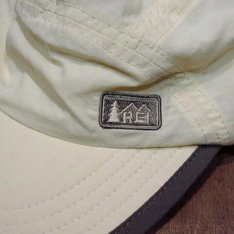 REI ナイロンフィッシングキャップ生成り●210306n4-m-cp-ot アウトドア釣り帽子古着日除け