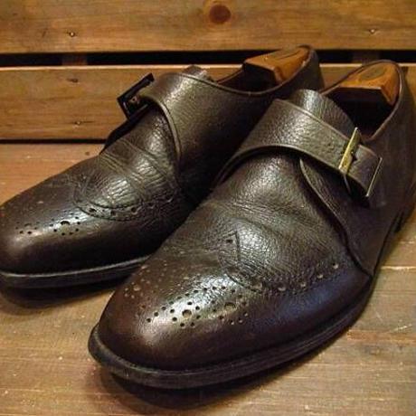 ビンテージ70's●Nordstrom Best ウィングチップストラップシューズ茶 Size 10E●210330n13-m-lf-28cm 1970sローファー革靴