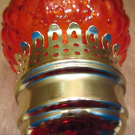 ビンテージ60's70's●ガラステーブルランプ赤●200702n8-lmp 1960s1970s照明ライトキャンドルランプレトロ