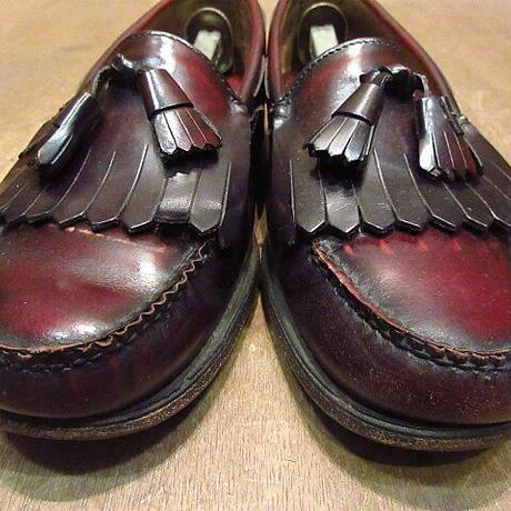 ビンテージ●G.H.BASS&CO. WEEJUNSタッセルローファー赤茶8 1/2 E●210112n6-m-lf-26cm メンズ革靴レザーソール