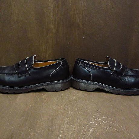 MADE IN ENGLAND Dr.Martensペニーローファー黒size 7 1/2●210506n6-m-lf-26cmイングランド製ドクターマーチン英国製革靴古靴メンズ