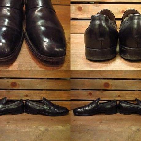 ビンテージ60's●プレーントゥローファー黒10 1/2C●210310s10-m-lf-285cm 1960sメンズ革靴