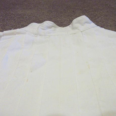 ビンテージ70's80's●SantaCruzレディースノーカラープリーツコットンドレスシャツ白size M●210315s3-w-lssh古着女性用USA長袖シャツ