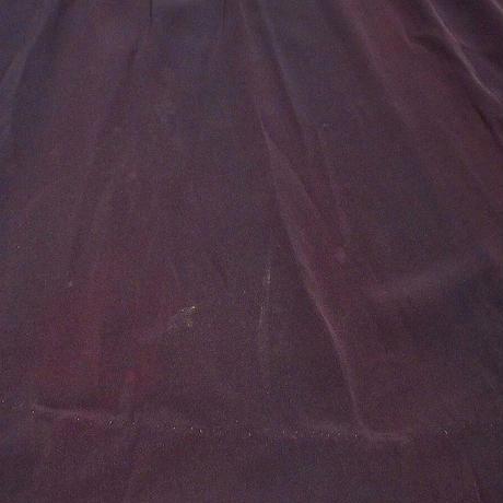 ビンテージ40's●ビーズ飾り付き長袖レーヨンワンピース紺●210414s1-w-lsdrs 1940sガウン