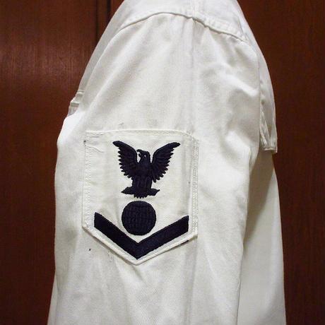 ビンテージ60's●U.S.NAVY セーラーシャツ 36●210604s2-m-lssh-mlt USAミリタリー米軍実物トップス長袖