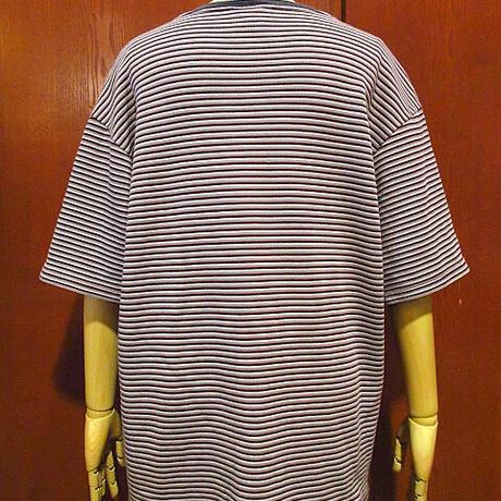 ビンテージ90's●ON THE OCEANボーダーコットンTシャツsize L●210125s6-m-tsh-str古着半袖シャツUSA製コットントップスクルーネック