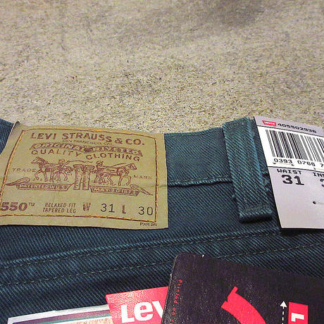 ビンテージ90's●DEADSTOCK MADE IN U.S.A. Levi's 550緑W31 L30●210427s7-m-pnt-jns-W31古着リーバイスデッドストックUSA製パンツ