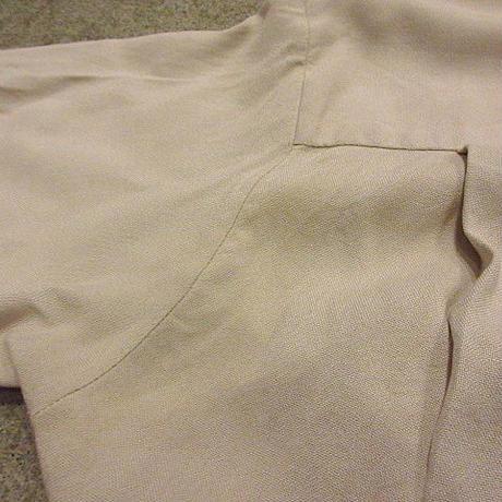 ビンテージ50's60's●刺繍入りループカラーシャツ●200608f5-m-sssh-lp古着半袖シャツオープンカラーシャツ開襟シャツ