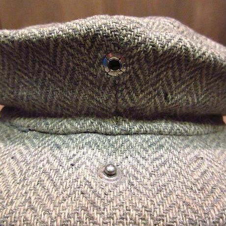 ビンテージ30's40's●8パネルツイードキャスケットグレー●201115n1-m-cp-cas 1930s1940sヘリンボーンニュースボーイキャップワーク