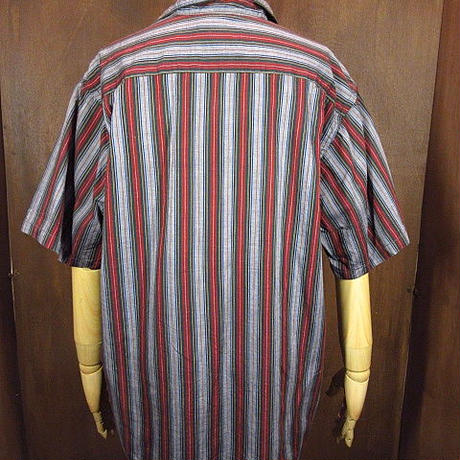 ビンテージ60's●OSHMAN'Sマルチストライプループカラー半袖シャツsizeM●200528n5-m-sssh-lp古着オープンカラーシャツメンズトップス