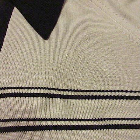 ビンテージ70's●マルチボーダーニットポロシャツ●200912f9-m-plsh古着半袖シャツメンズUSAレトロ