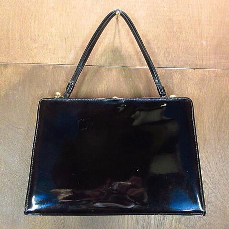 ビンテージ50's●Dobbie BAGSレディースエナメルハンドバッグ黒●210201n3-bag-hnd 1950s鞄レディースブラック