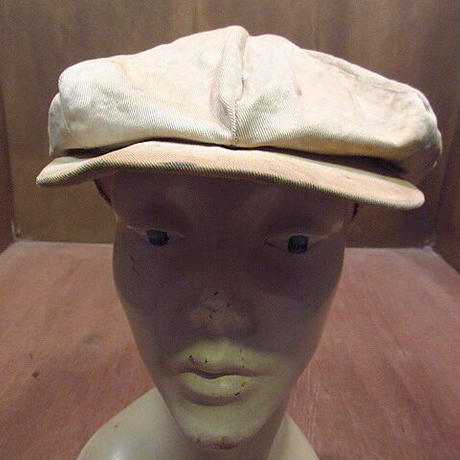 ビンテージ~30's●8パネルコットンキャスケット生成り●201001n6-m-cp-cas 20s1920s1930sワークニュースボーイキャップ帽子