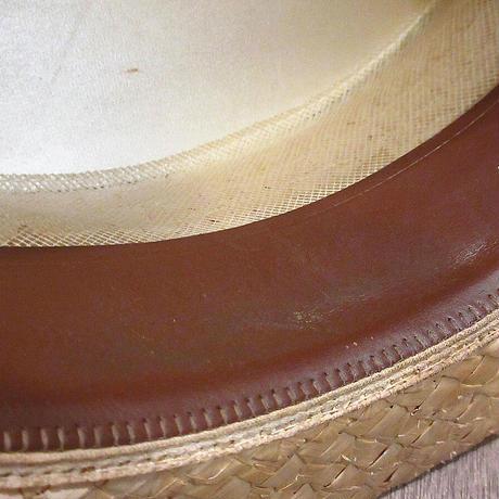 ビンテージ~50's●F.R.TRIPLER & Co.ボーターハット7 1/8●210606n3-m-ht-str 40s1940s1950sカンカン帽ストロー麦わら
