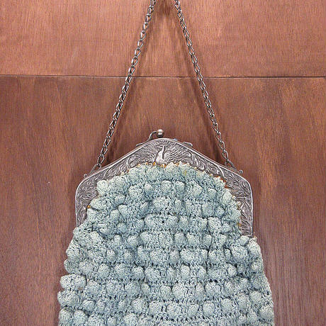ビンテージ~20's●孔雀彫金編み込みハンドバッグ●210322n1-bag-hnd 1910s1920sアンティークレディース鞄