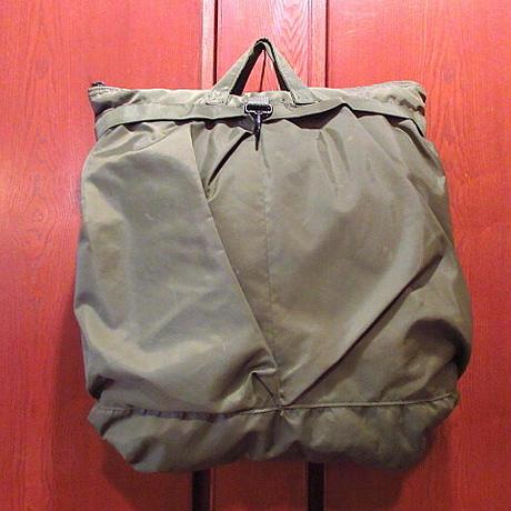 ビンテージ80's90's●ミリタリーヘルメットバッグ●210209s6-bag-hnd 1980s1990s米軍実物ハンドバッグナイロンカバン鞄USA